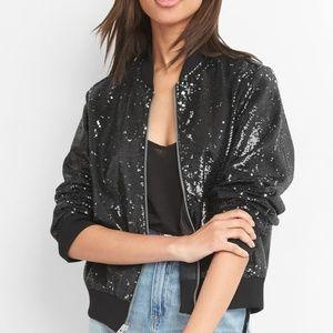 Gap sequined bomber jacket